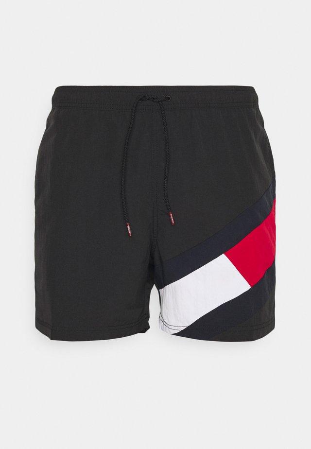 SOLID FLAG DRAWSTRING - Short de bain - black
