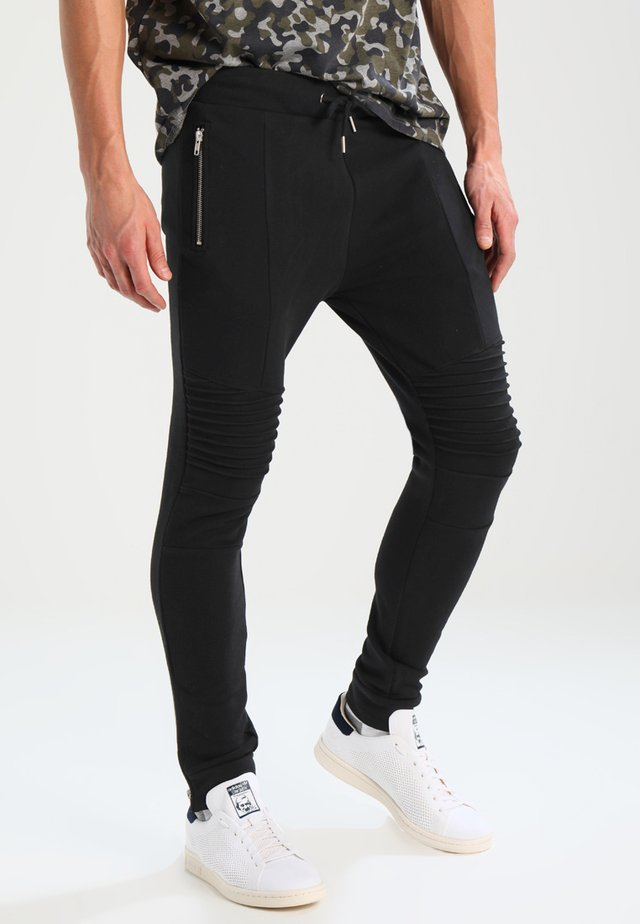 BIKER JOGGER - Trainingsbroek - black