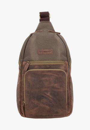 VINTAGE TEC - Across body bag - brown/olive