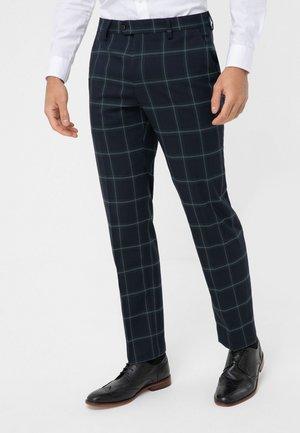 Suit trousers - blu/green