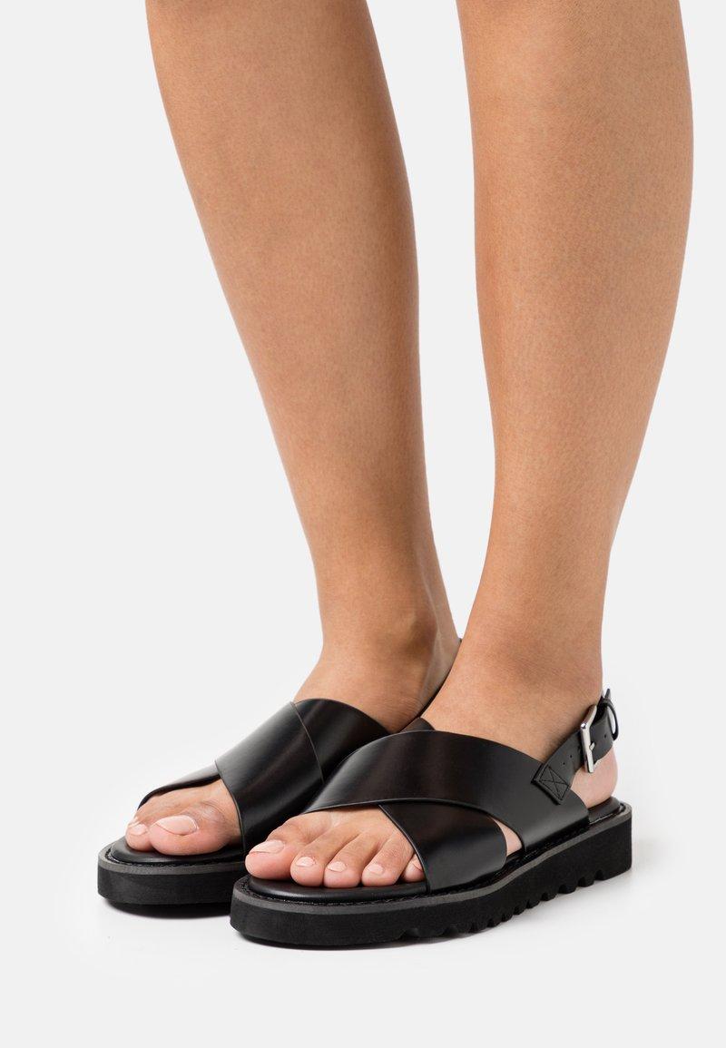 Even&Odd - Sandalias con plataforma - black