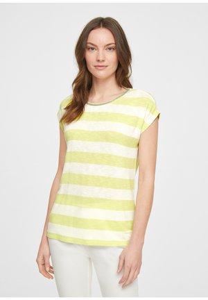 Print T-shirt - soft lime stripes