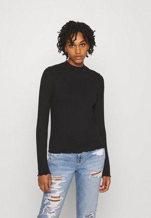 MOCK NECK TEE  - Maglietta a manica lunga - true black