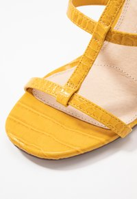 Topshop Wide Fit - WIDE FIT RIVER STRAPPY BLOCK - High heeled sandals - yellow - 2