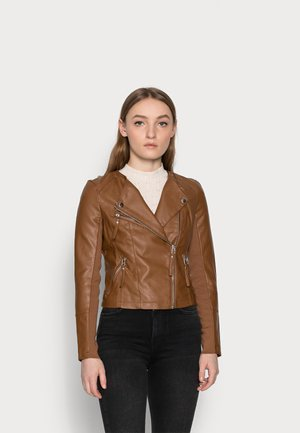 VMRIAFAVO  - Faux leather jacket - cognac