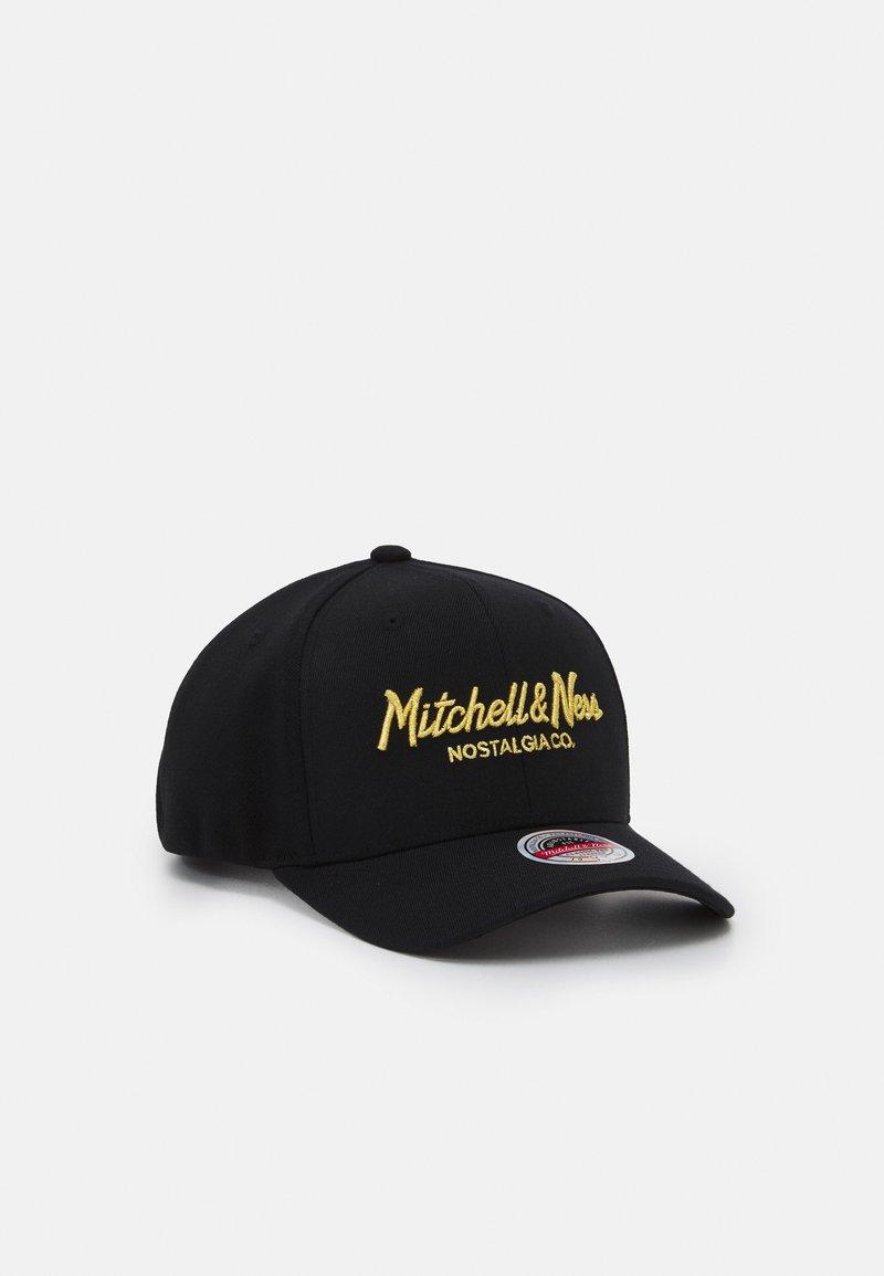 Mitchell & Ness - BRANDED PINSCRIPTREDLINE SNAPBACK - Lippalakki - black/gold