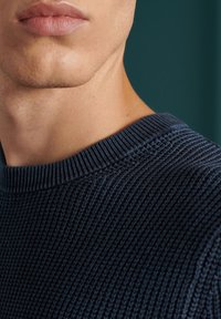 Superdry - ACADEMY DYED TEXTURE - Pullover - washed dark storm navy - 2