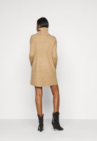 ONLY Petite - ONLJANA COWLNK DRESS - Strikket kjole - beige melange - 2