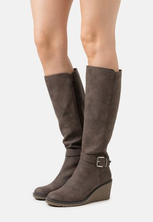 HELENA - Wedge boots - taupe