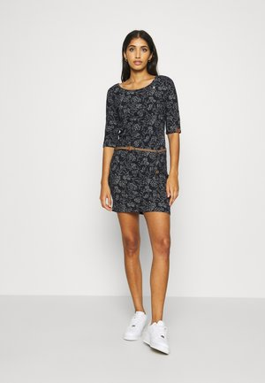 TANYA FLOWERS - Shift dress - navy