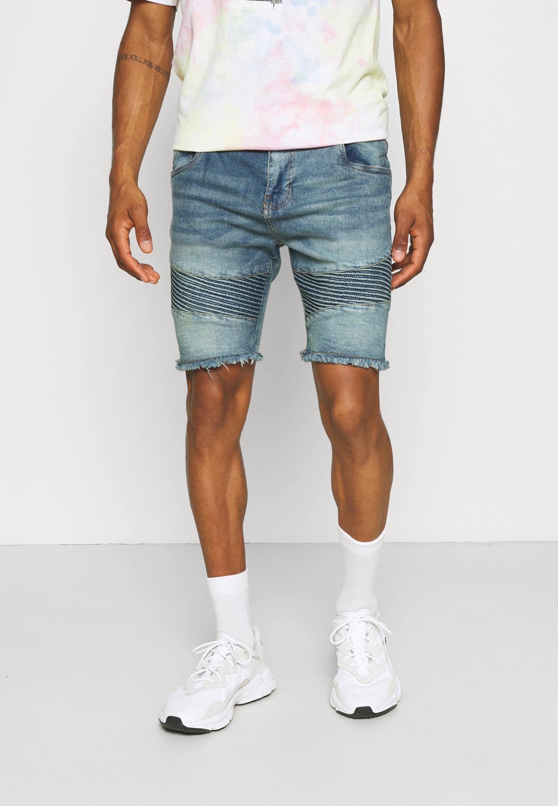 Uomo NATHEO - Shorts di jeans