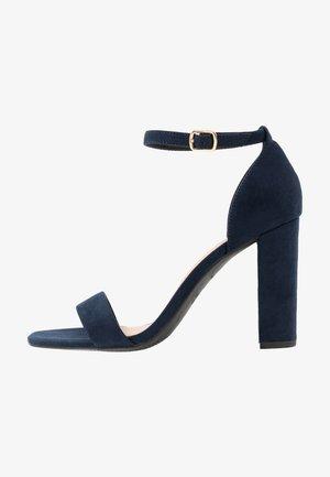 WIDE FIT VARONA - High heeled sandals - dark blue