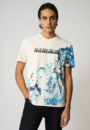 T-shirt med print - new milk