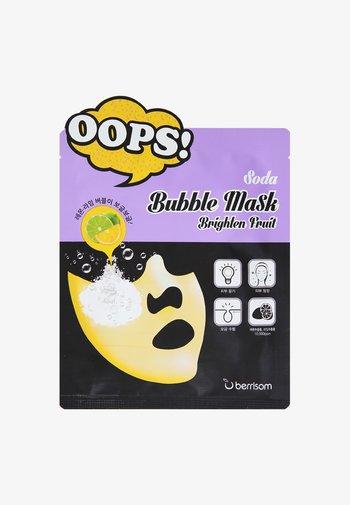 BUBBLE MASK BRIGHTEN FRUIT 3 PACK - Face mask - neutral
