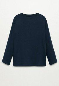 Mango - ANIMAL - Long sleeved top - blu marino scuro - 1
