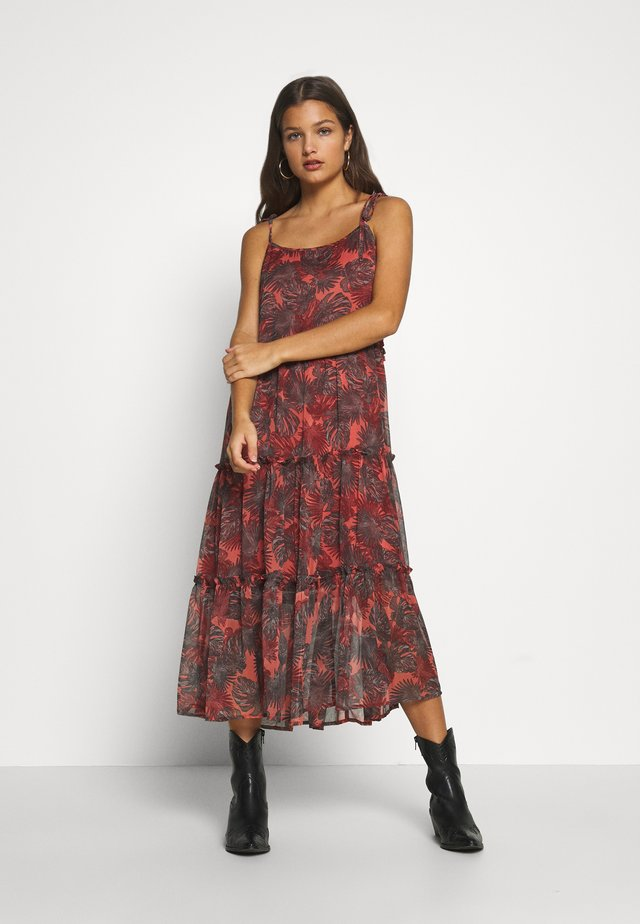 LONG DRESS PETITE - Day dress - burnt coral