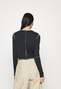 Topshop - CONT STITCH - Long sleeved top - black - 2