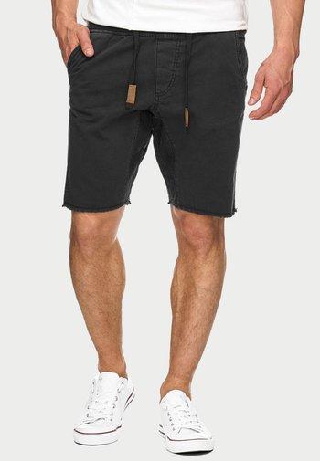 CARVER - Denim shorts - black