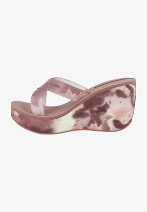 LIPSTICK STRAPS - Sandalen met sleehak - pink
