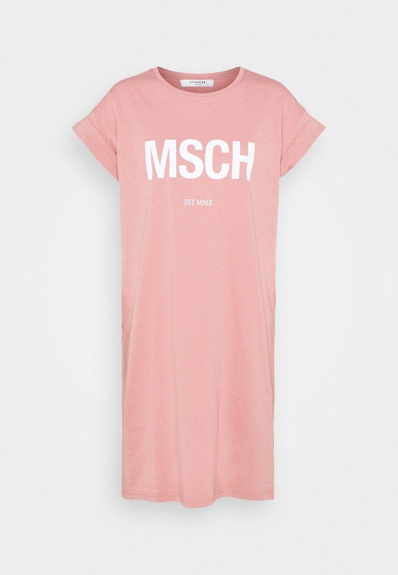 Moss Copenhagen - ALVIDERA DRESS - Jerseykjoler - ash rose/white