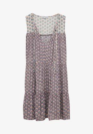 Sukienka letnia - mottled purple