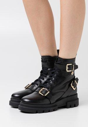 FAN - Cowboy/biker ankle boot - black