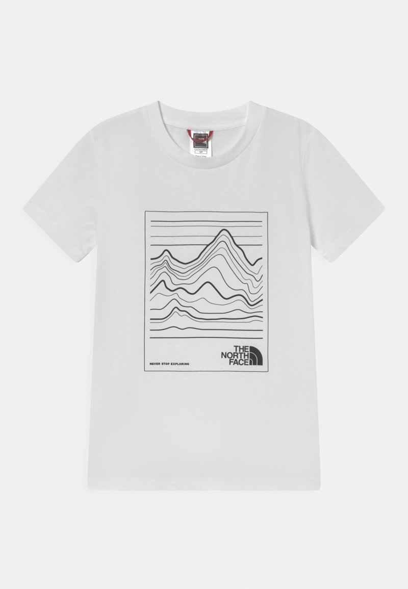 The North Face - YOUTH MOUNTAIN TEE UNISEX - T-shirt con stampa - white/black