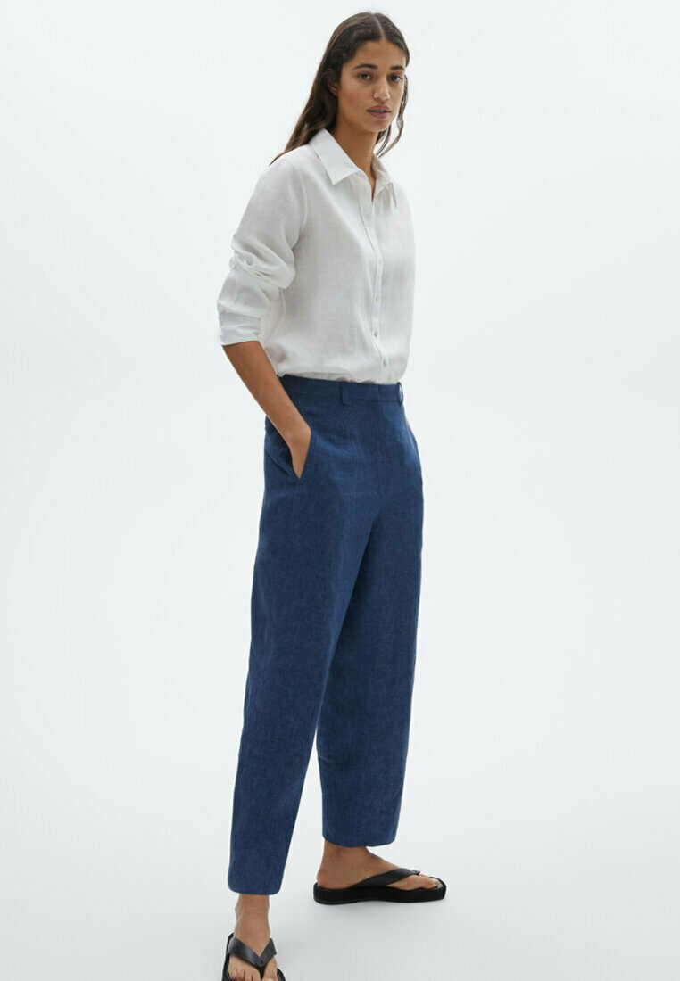 Massimo Dutti - Trousers - light blue