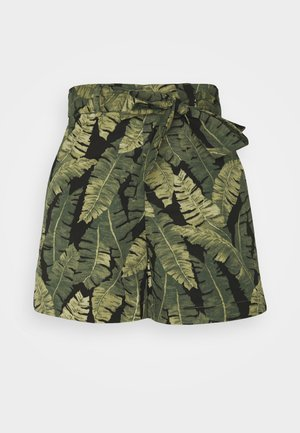 OBJFANA  - Shorts - black/leaves