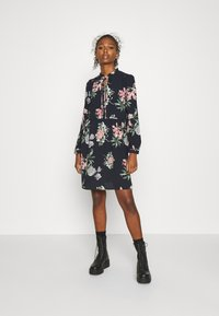 Vero Moda - VMSAGA SHORT DRESS - Day dress - navy blazer/sita - 0