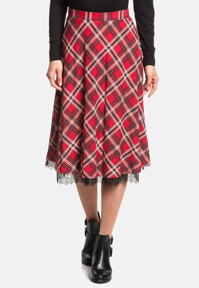 A-line skirt - rot allover