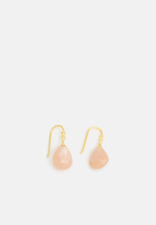 MOON DROP EARRINGS - Korvakorut - peach