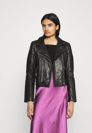 VMALICIA  - Leather jacket - black