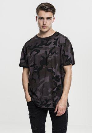 CAMO OVERSIZED - Print T-shirt - dark camo