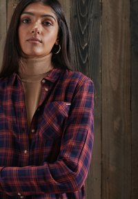 Superdry - Button-down blouse - navy rust check - 1