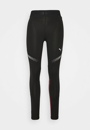 RUNNER REGULAR RISE FULL - Leggings - black/burgundy