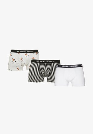 3 PACK - Shorty - snowman face aop+wht/blk+wht
