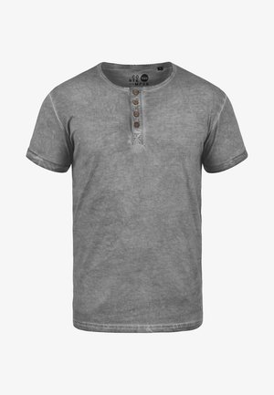 RUNDHALSSHIRT TIHN - Basic T-shirt - mid grey