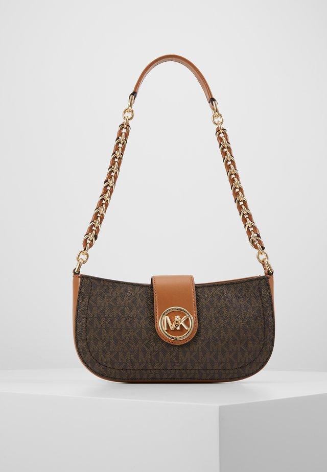 CARMEN POUCHETTE - Handbag - brown/acorn
