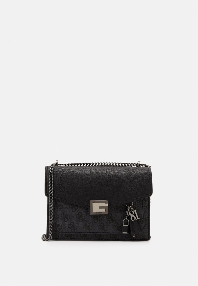 Guess - VALY CONVERTIBLE XBODY FLAP - Across body bag - coal