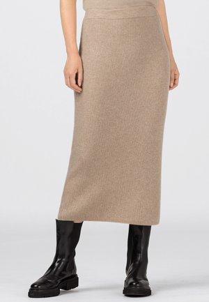 Pencil skirt - milchkaffee/melange