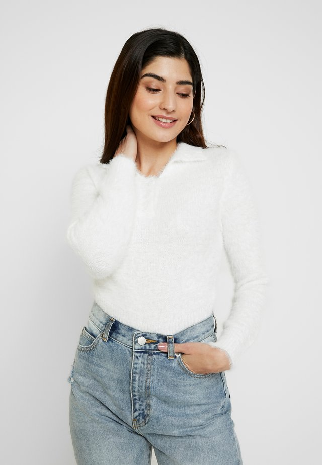 EYELASH - Sweter - white