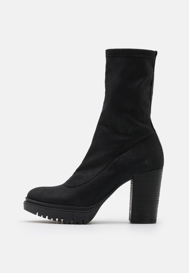 JANICE - High heeled boots - delicius black