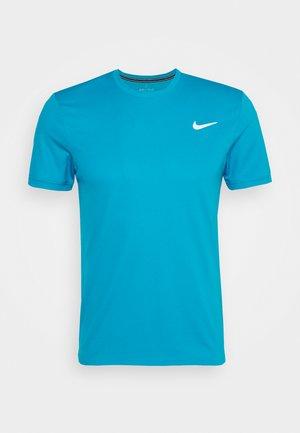 DRY - Basic T-shirt - neo turquoise/white