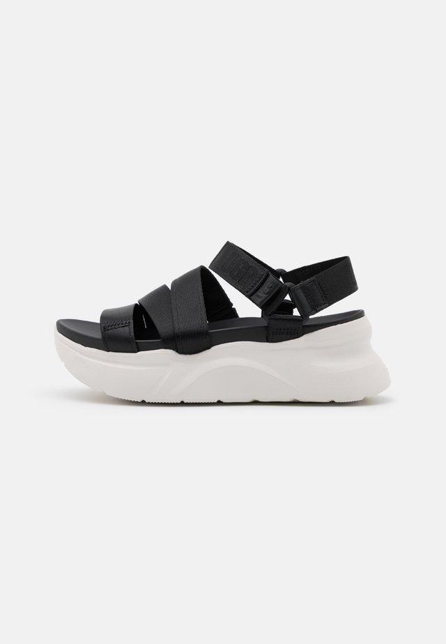 LA SHORES - Sandały na platformie - black