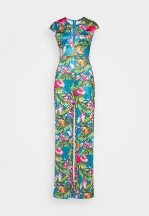 ROSANNA  - Overall / Jumpsuit /Buksedragter - anthurium jungle blu