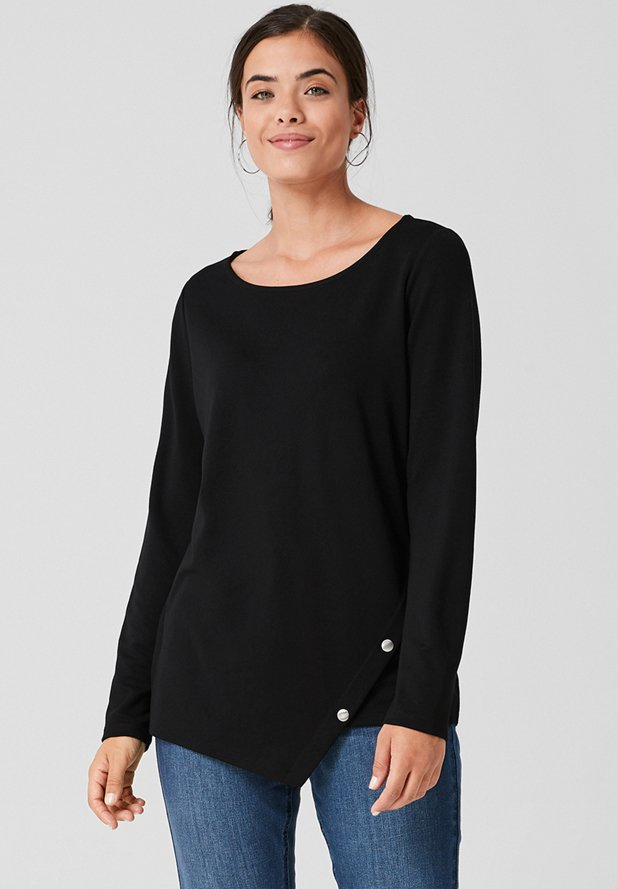 Triangle - Long sleeved top - black