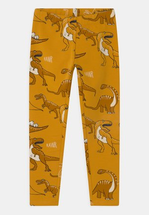 MINI DINO UNISEX - Tracksuit bottoms - dark dusty yellow