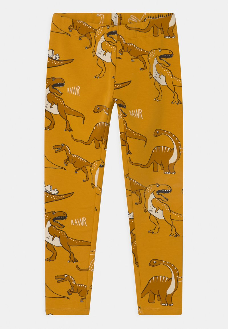 Lindex - MINI DINO UNISEX - Tracksuit bottoms - dark dusty yellow