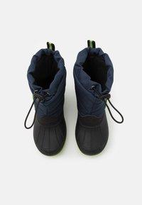 KangaROOS - K-BEN - Winter boots - dark navy/lime - 3